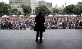 Ada Colau, campaigning in Barcelona.