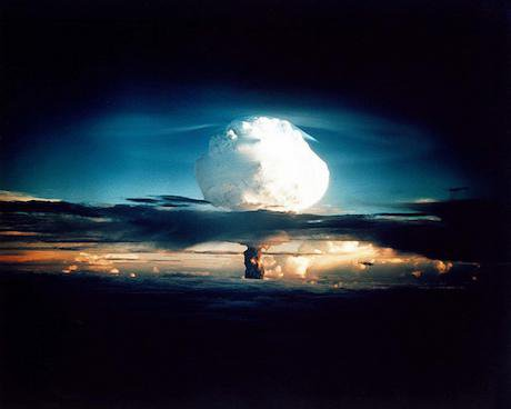 Nuclear weapons test at Enewetak in 1952.