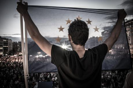 'We stay in Europe' rally in Athens, June, 2015.