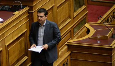 Tsipras in the Hellenic Parliament, July 11, 2015
