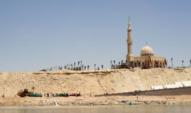Egypt completes construction of second lane of Suez Canal, July 2015.