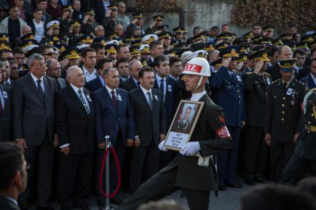 State funeral of colonel killed in combat with PKK, October 18.