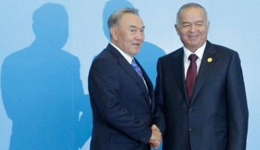 President Nazarbayev (left) and President Karimov (right) at a meeting in Astana  in 2011.
