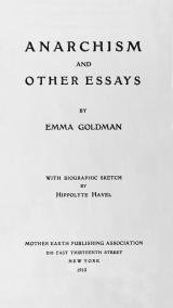 Cover of Emma Goldman's Anarchism and Other Essays