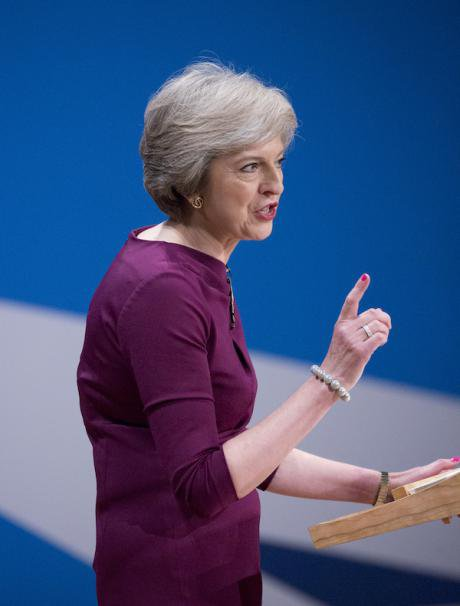 Theresa May, Conservative Party conference, Oct 2016. PA/Isabel Infantes EMPICS
