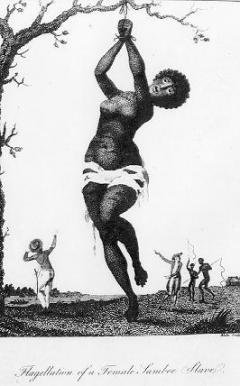 Flagellation of a Female Samboe Slave (1796) by William Blake.