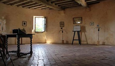 Study in the tower where Montaigne wrote.