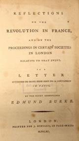 Book cover of Reflections on the Revolution in France by Edmund Burke