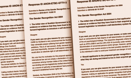 Submissions to the Scottish consultation, opposing reforms.