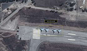 Russian planes at Latakia airbase. AllSource Analysis | GeoNorth | Airbus. All rights reserved.