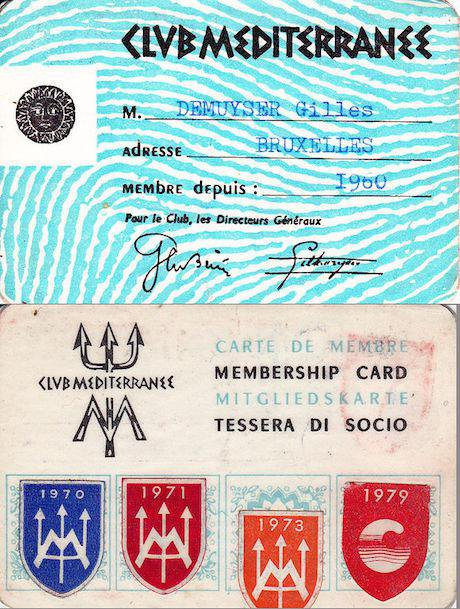Club Med membership card, 1960. Club Med/Wikimedia Commons. Some rights reserved.