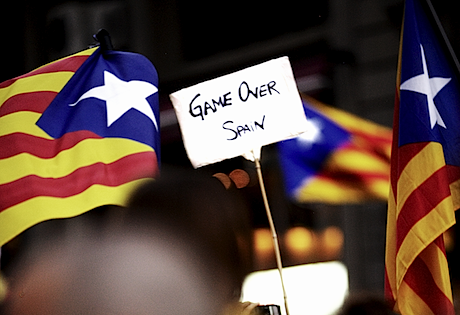 During a pro-independence demonstration in Barcelona this September. Demotix/Patrick Muzart-Lupinacci. All rights reserved.