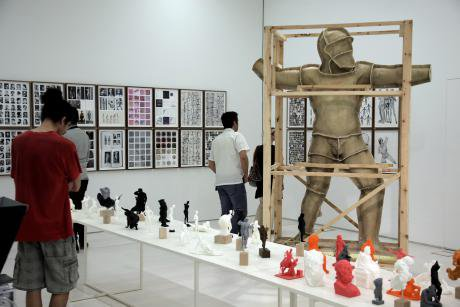 """Installation entitled """"The disasters of war"""" at documenta 14 in Athens."""