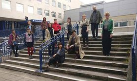 Some of the defendants outside Chelmsford Magistrates Court Wednesday 3 May 2017
