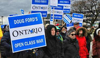 Protest Against Doug Ford's Company In Ontario.jpg