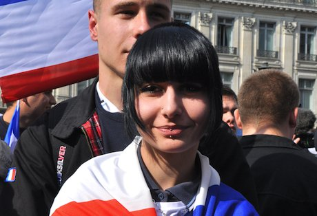 A supporter of the French Front National. Demotix/Hugo Passarello Luna. All rights reserved.