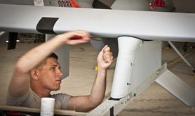 Assembling a predator drone out of the box in about two hours, 2012.