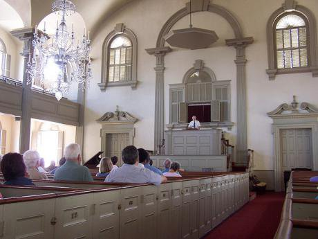First Baptist church in America, founded by Roger Williams in 1638. J. Stephen Conn:Flickr. Some rights reserved.jpg