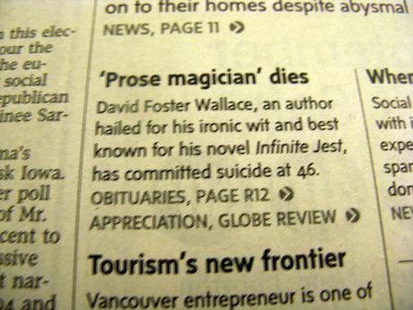 Foster Wallace obituary. Flickr/K Parks. Some rights reserved.