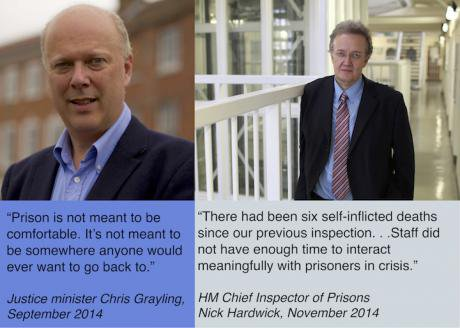 As justice minister Chris Grayling made prison harsher and dismissed his critics.