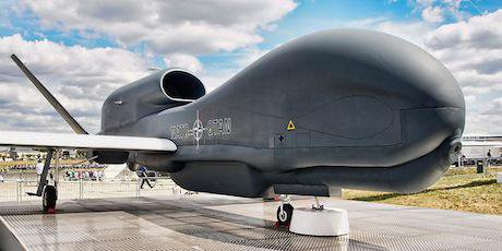 Global Hawk unmanned reconnaissance system at Farnborough 2010. Anguskirk/Flickr. Some rights reserved.