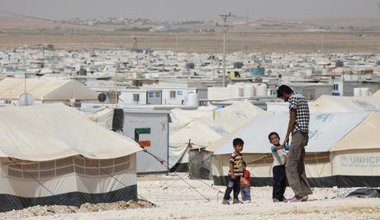 Operated by UNHCR, the Zataari Refugee camp in Jordan houses nearly 80,000 Syrian refugees.