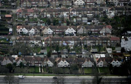 Houses in north London.