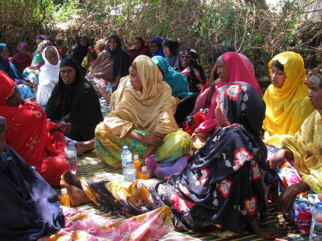 Displaced women in Somaliland.