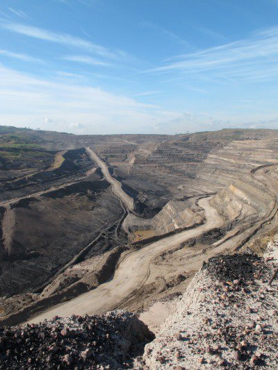 Coal pits pockmark East Kalimantan, an Indonesian province who's infrastructure is geared entirely around the extraction of timber and coal. Due to its land use Indonesia is the world's third largest emitter of CO2.