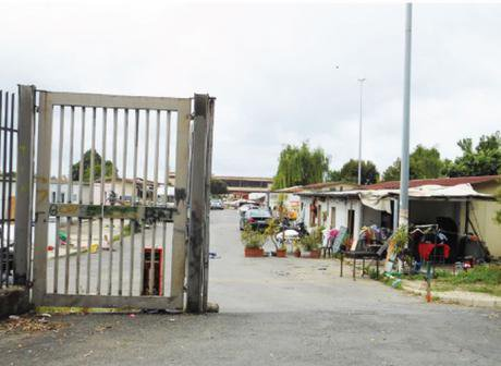 A Roma camp in Italy.