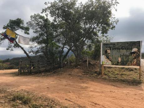 A FARC demobilisation camp in Colombia.