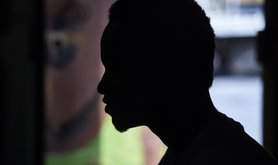 a migrant from West Africa named Diop (changed to provide anonymity), who arrived in Spain after crossing the Mediterranean from Morocco. It was taken in a migrant commune/hostel in Barcelona