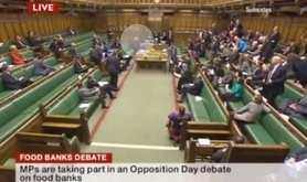 Iain Duncan Smith sneaks out of food bank debate