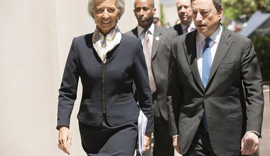 International Monetary Fund Managing Director Christine Lagarde and the President of the European Central Bank Mario Draghi. 2015. Flickr. Some rights reserved._0.jpg