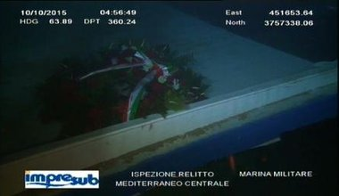 Video of the underwater exploration of the wreck of the 18th of April 2015 shipwreck which cost the lives of more than 800 peopl