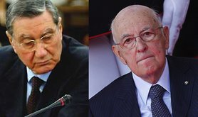 Mancino (left) and Napolitano (right). Wikimedia and Demotix/Giuseppe Lami. All rights reserved.