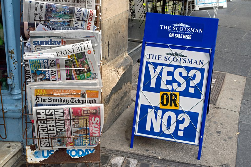 Scotland newspapers independence