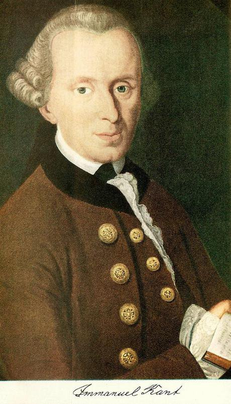 Immanuel Kant. Unknown.