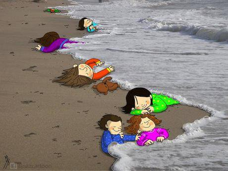 Looking for a safer shore. Mahnaz Yazdani:FB. Some rights reserved.jpg