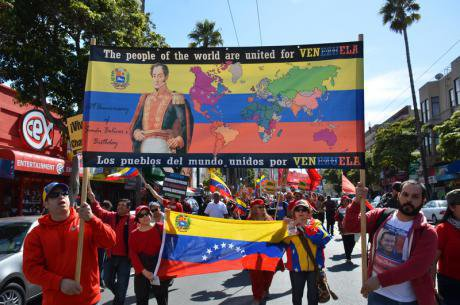 March in honour of the late Hugo Chavez. Steve Rhodes/Demotix. All rights reserved.