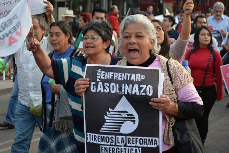 March against the 'Gasolinazo', Mexico City, January 2017