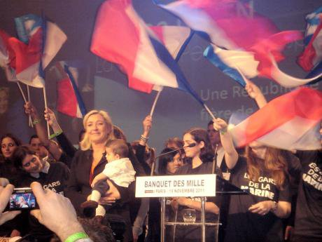 Marine Le Pen, leader of the Front National, was one of the big winners in the Euro elections. Wikimedia commons.
