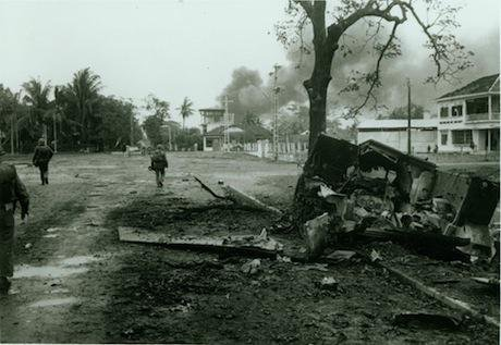 Marines move through the streets of Hue, 1968. Flickr:USMC Archives. Some rights reserved.jpg