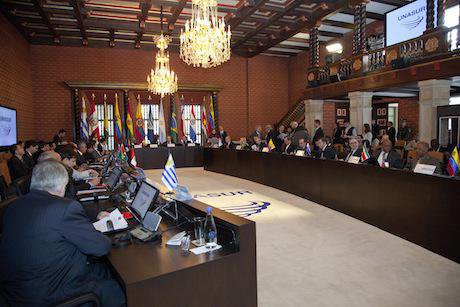 Meeting of UNASUR in Bogotá, Colombia. Fernanda LeMarie/Flickr. Some rights reserved.