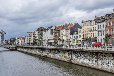 Molenbeek, Belgium, and its canal. Kiev.Victor/Shutterstock. All Rights Reserved.