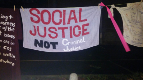Reclaim Holloway's New Years' Eve 2016 protest outside Holloway prison