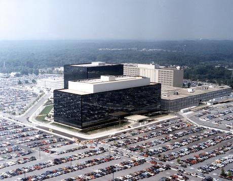 NSA, Fort Meade. Wikimedia Commons. Public domain.