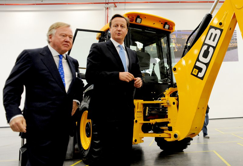 Anthony Bamford with David Cameron in 2012