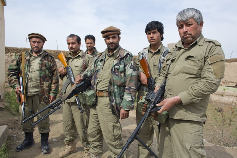 Members of the Afghan Local Police, sponsored by the US, in Kunduz, 2013.