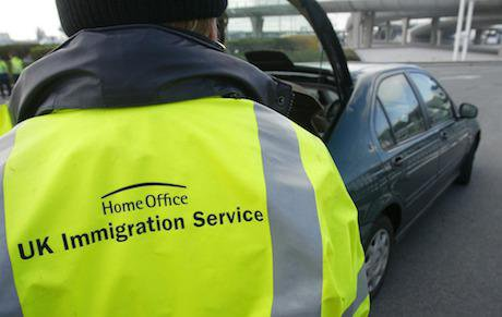 UK Immigration Officers as they stop check vehicles in Calais, France. Is Britain a welcoming country for lone refugee children?